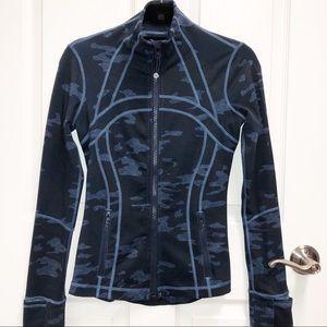 "LULULEMON Navy Camo ""Define"" Zip Jacket Size 4"